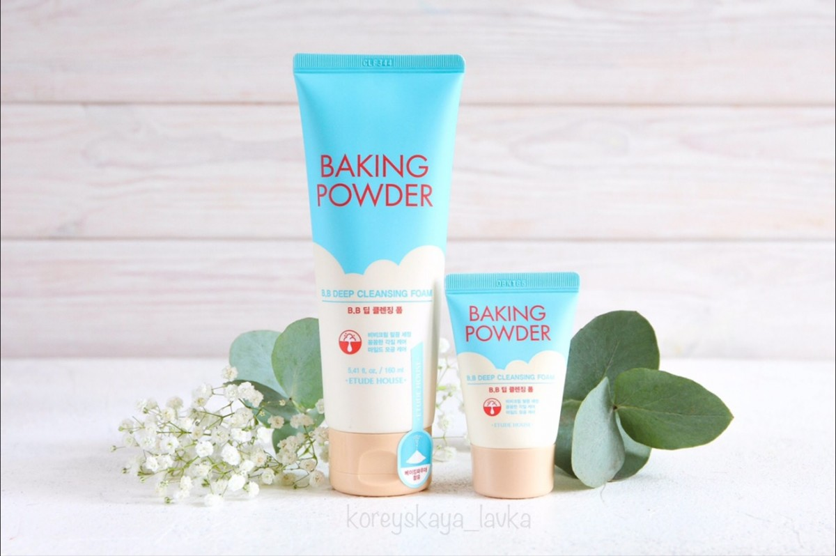 Etude House Baking Powder BB Deep Cleansing Foam -  очищающая пенка с содой
