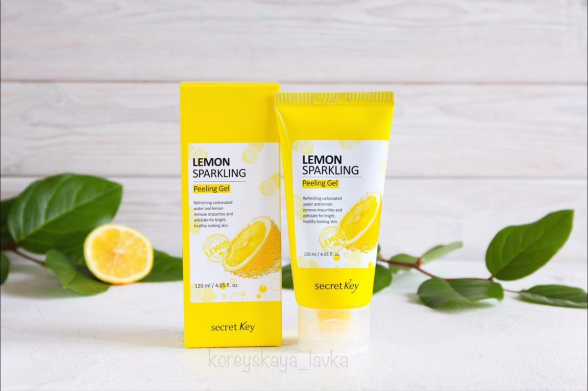 Secret Key Lemon Sparkling Peeling Gel  - пилинг-скатка с лимоном.