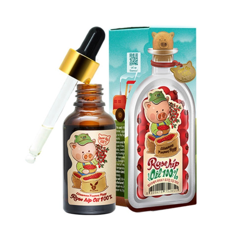 Elizavecca Farmer Piggy Rose hip Oil 100% -  натуральное масло шиповника;
