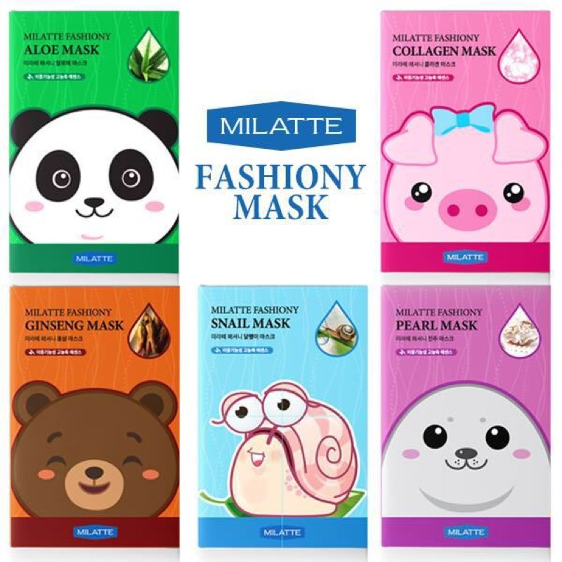 MILATTE Fashiony Mask Sheet -  тканевая маска.