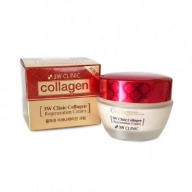 3W CLINIC Collagen Regeneration Cream - восстанавливающий крем для лица с коллагеном;